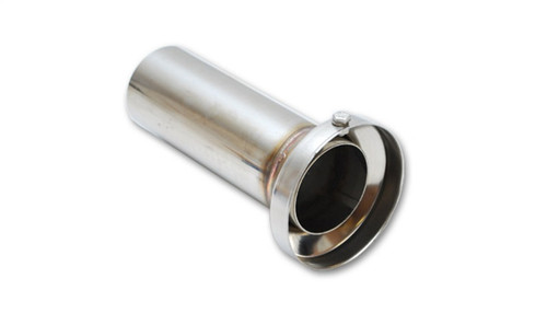 Vibrant 3.90in OD Low Inner Silencer Muffw/ 3.90in ID Single Wall Exh Tip2.5in OD Tuning Tube
