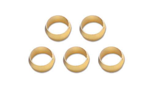 Vibrant Brass Olive Inserts 5/16in - Pack of 5