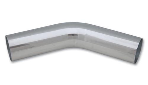 Vibrant 5in OD T6061 Aluminum Mandrel Bend 45 Degree - Polished