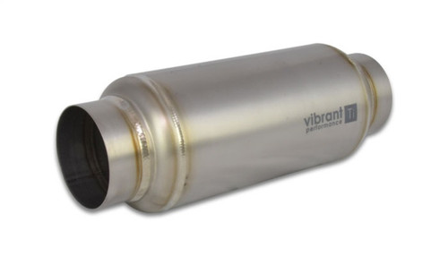 Vibrant Titanium Resonator 3in. Inlet / 3in. Outlet x 12in. Long