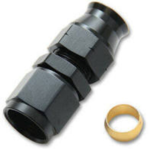 Vibrant -6AN Female to 1/4in Tube Adapter Fittings (w/ Brass Olive Insert)