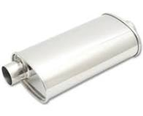 "Vibrant StreetPower Oval Muffler 5in x 9in x 15in - 2.5"" inlet/outlet (Offset-Offset Same Side)"