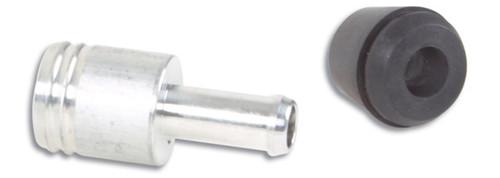 Vibrant 19mm (3/4in) O.D. Aluminum Vacuum Hose Fitting (includes Rubber Grommet)