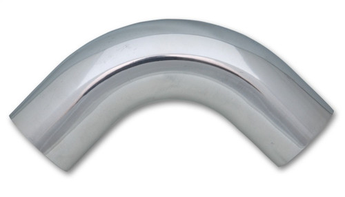 Vibrant 5in OD T6061 Aluminum Mandrel Bend 90 Degree - Polished