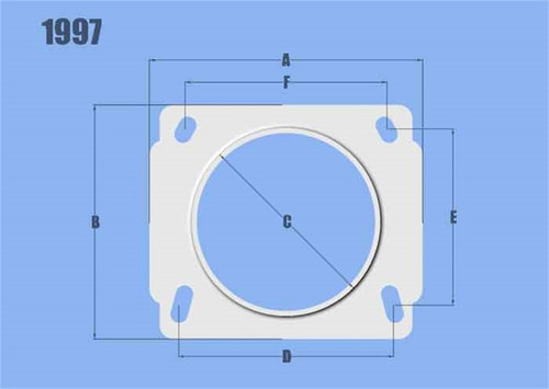 Vibrant MAF Sensor Adapter Plate for Nissan applications use w/ 3in Inlet I.D. filters only