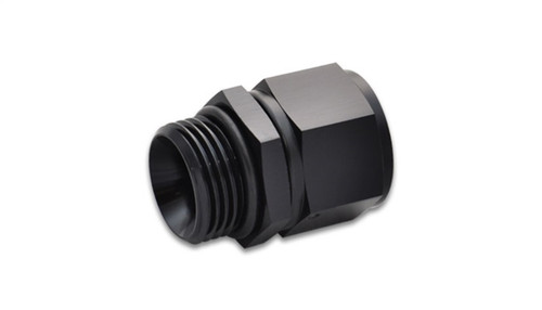 Vibrant -8AN Female to -10AN Male Straight Cut Adapter with O-Ring