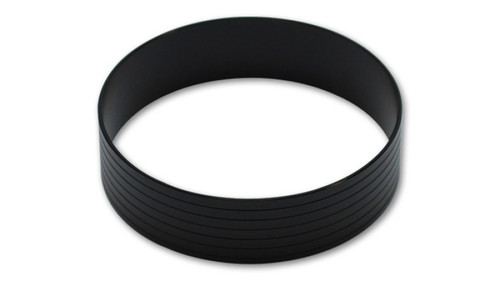 Vibrant HD Aluminum Union Sleeve for 2in OD Tubing - Hard Anodized Black