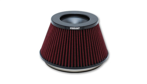 Vibrant The Classic Perf Air Filter 5in OD Conex3-5/8in Tallx6in ID Bellmouth VelocityStack10950-52