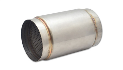 Vibrant SS Race Muffler 5in inlet/outlet x 9in long