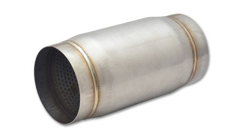 Vibrant SS Race Muffler 4in inlet/outlet x 9in long