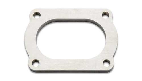 Vibrant T304 SS 4 Bolt Flange for 3in O.D. Oval tubing