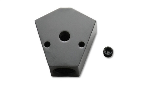 Vibrant Billet Aluminum Y-Block Fitting with 1/8in NPT Port - 1/2in NPT x 3/8in NPT x 3/8in NPT