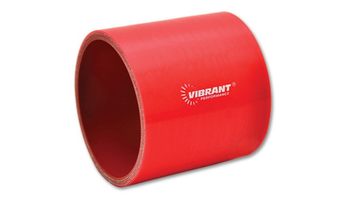 Vibrant 4 Ply Reinforced Silicone Straight Hose Coupling - 5in I.D. x 3in long (RED)