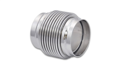 Vibrant SS Bellow Assembly w/ Solid Liner 2.25in inlet/outlet ID x 3in overall L Electro Polished
