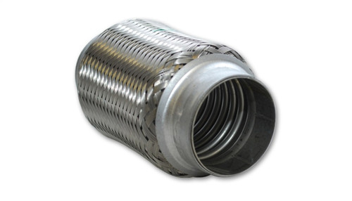 Vibrant SS Flex Coupling without Inner Liner 1.5in inlet/outlet x 4in long