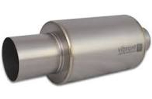 Vibrant Titanium Muffler w/Natural Tip 3in. Inlet / 3in. Outlet / 4.25in Dia