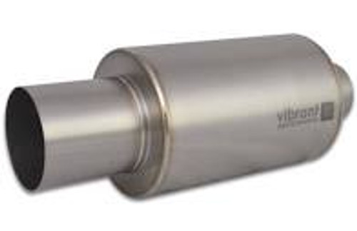 Vibrant Titanium Muffler w/Natural Tip 4in. Inlet / 4in. Outlet / 5.875in Dia