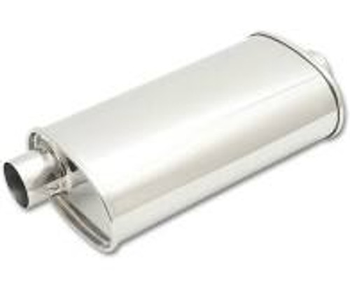 "Vibrant StreetPower Oval Muffler 5in x 9in x 15in - 2.25"" inlet/outlet (Offset-Offset Same Side)"