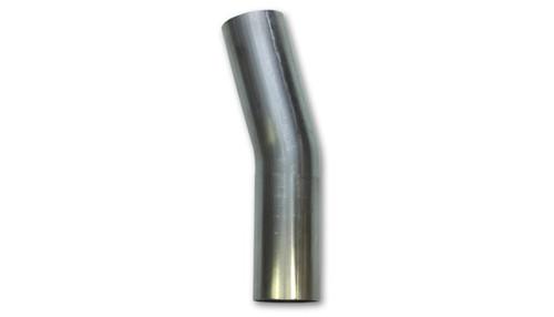 Vibrant 2in O.D. T304 SS 15 deg Mandrel Bend 4in x 4in leg lengths (2in Centerline Radius)