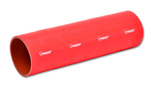 Vibrant 4 Ply Reinforced Silicone Straight Hose Coupling - 1.5in I.D. x 12in long (RED)