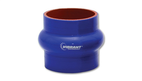 Vibrant 4 Ply Reinforced Silicone Hump Hose Connector - 2.5in I.D. x 3in long (BLUE)