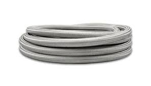 Vibrant SS Braided Flex Hose with PTFE Liner -6 AN 0.32in ID (20 foot roll)