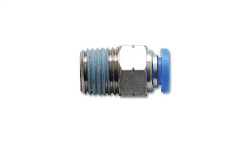 Vibrant Male Straight Pneumatic Vacuum Fitting (1/8in NPT Thread) - for 1/4in (6mm) OD tubing
