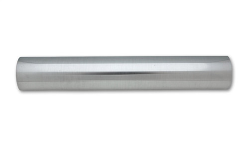 Vibrant 2.5in O.D. Universal Aluminum Tubing (18in long Straight Pipe) - Polished
