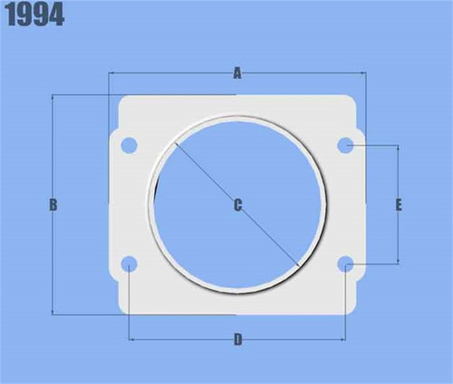 Vibrant MAF Sensor Adapter Plate for Subaru applications use w/ 3in Inlet I.D. filters only