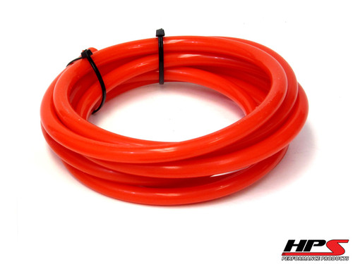 "HPS 13/64"" (5mm) ID Red High Temp Silicone Vacuum Hose - 10 Feet Pack"