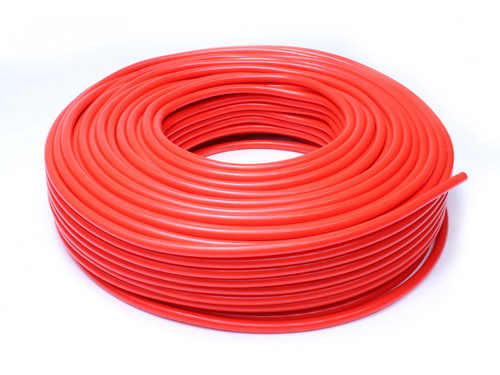 """HPS 1/8"""" (3mm) ID Red High Temp Silicone Vacuum Hose w/ 1.5mm Wall Thickness - 50 Feet Pack"""