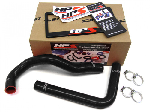 HPS Toyota SC300 Turbo and Supra Turbo High Temp Reinforced Silicone Radiator Hose Kit Coolant OEM Replacement - Black