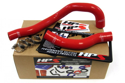 HPS Red Reinforced Silicone Radiator Hose Kit Coolant for Toyota 93-98 Supra Non Turbo 2JZGE