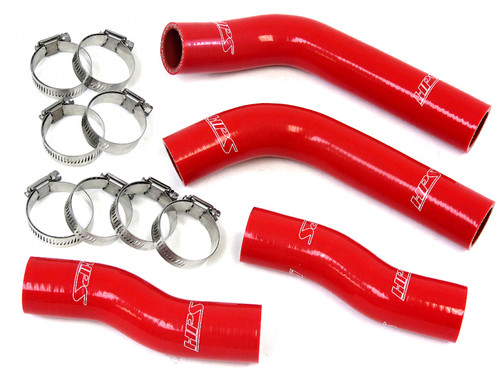 HPS Red Reinforced Silicone Coolant Hose Kit (4pc set) for front radiator for Toyota 90-99 MR2 3SGTE Turbo