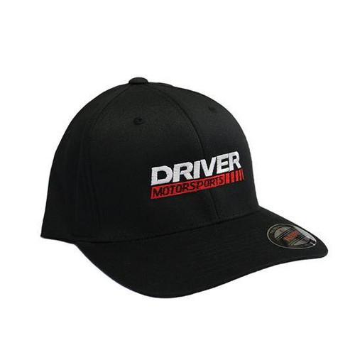 Driver Motorsports Embroidered Black FLEXFIT Hat