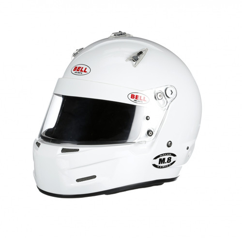 Bell M8 Racing Helmet-White Size Large