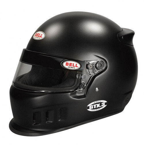 Bell GTX.3 Matte Black Racing Helmet - 61 plus cm