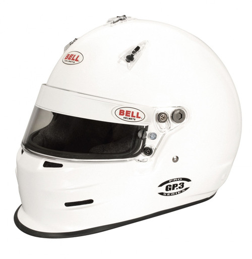 Bell GP3 White Racing Helmet - 61 cm