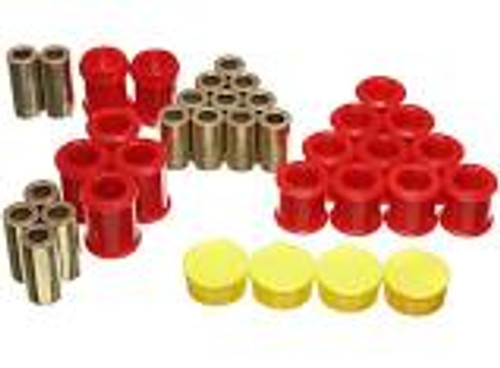 Energy Suspension 95-98 Nissan 240SX (S14) / 90-96 300ZX Red Front Control Arm Bushing Set