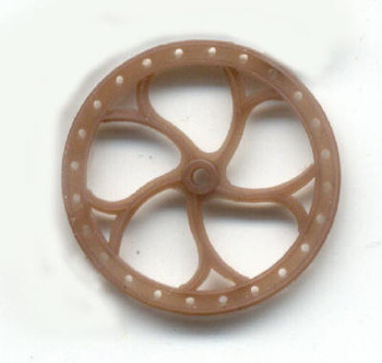 16″ BRAKE WHEEL-BROWN DELRIN