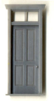 STATION OR HOUSE DOOR W/ FRAME AND TRANSOM