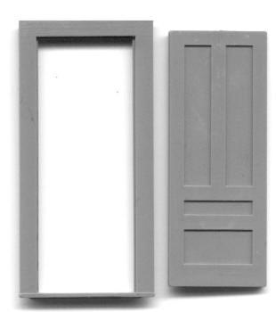 34″ 4 PANEL DOOR W/ FRAME