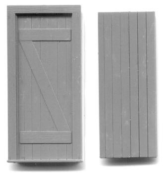 30″ X 78″ DOOR WITH PLANKS ON ONE SIDE, Z-BRACE ON THE OTHER