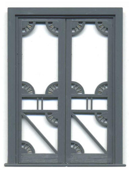 DOUBLE OPEN-SCROLLWORK DOORS WITH FRAME (see single door #3810 below)