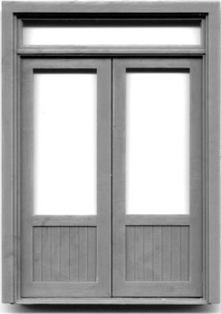 72″ DOUBLE DOOR W/WINDOW-TRANSOM
