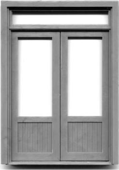 72″ DOUBLE DOOR W/WINDOW-TRANSOM