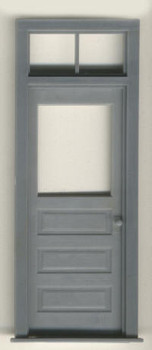 3 PANEL DOOR WITH 2 PANE TRANSOM