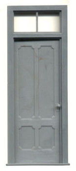 VICTORIAN 4 PANEL DOOR WITH 2 PANE TRANSOM