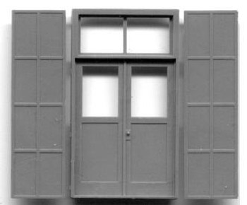 5'5″X9'7″ DOUBLE DOOR W/IRON SHUTTERS