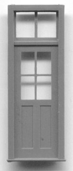 DOOR-4 PANE WINDOW WITH TRANSOM
